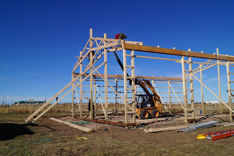 Post Frame Building Process Custome Pole Buildings In